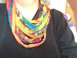 Recycled Silk Sari Ribbon Necklace