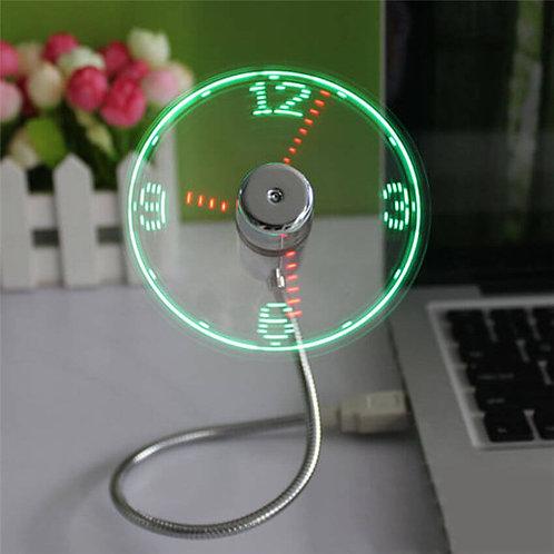מיני שעון מאוורר עם חיבור USB