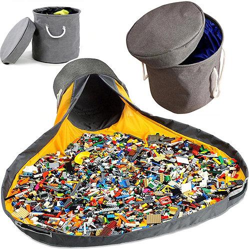 סל אחסון לצעצועים עם מחצלת מתקפלת