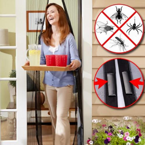 רשת נגד מעופפים לבית עם סגירה מגנטית