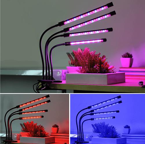 מנורת שולחן LED לגידול צמחים