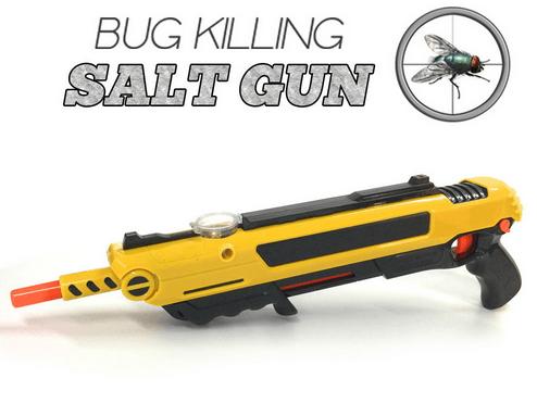 רובה מלח נגד זבובים ויתושים