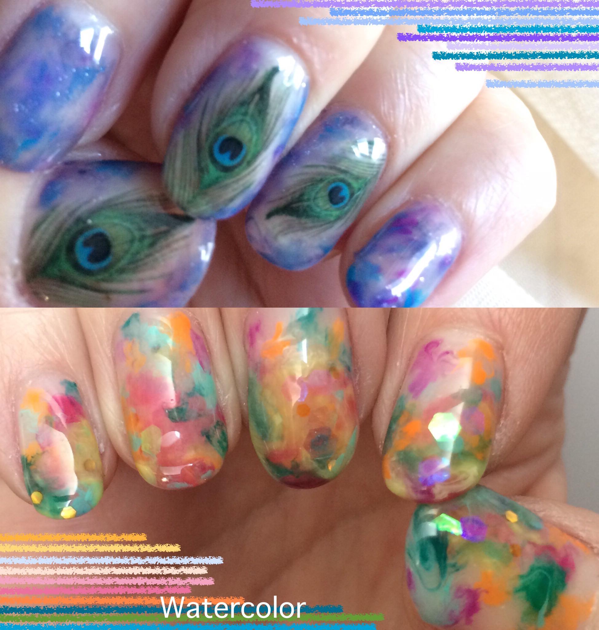 Watercolor Nail