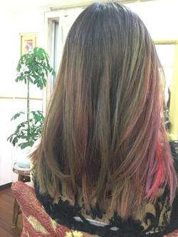 Pinkred ハイライトMixカラー