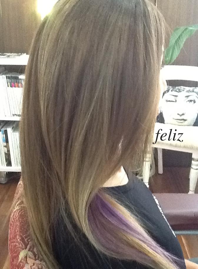 purple インナーカラー