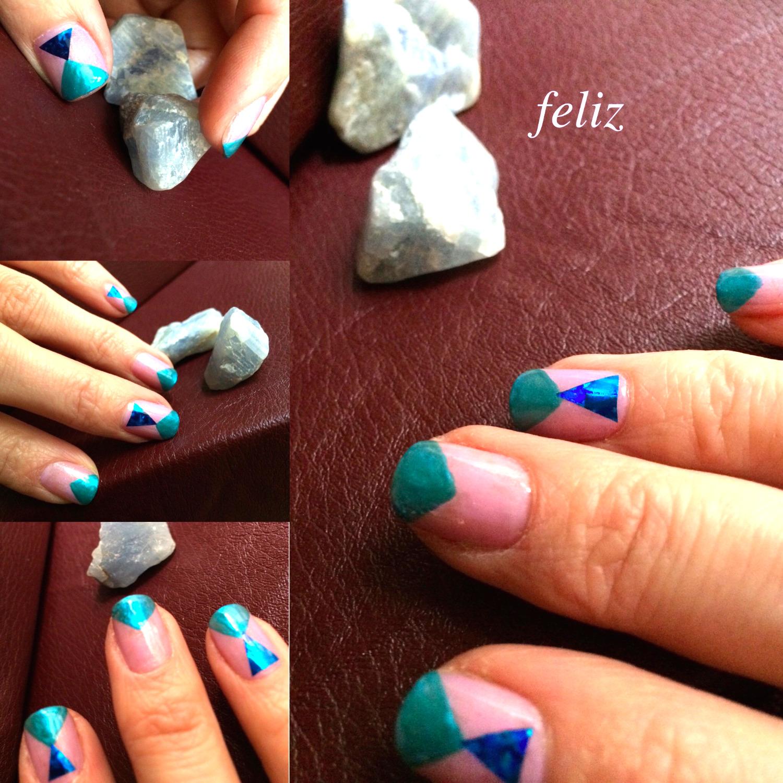 △nail Design ブルー