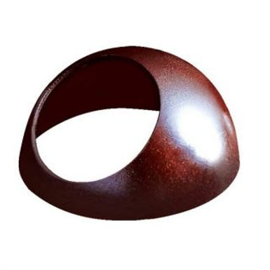 CHOCOLATE SHELL MOON LARGE