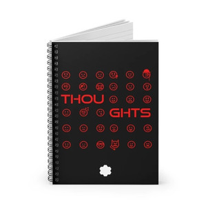 Joy - Thoughts Spiral Notebook (Black)