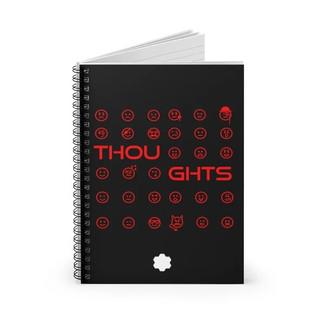 Joy - Thoughts Spiral Notebook (Black)