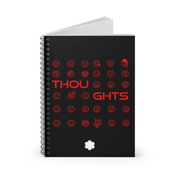Thoughts Spiral Notebook (Black)
