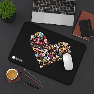 Music Heart - Mouse Pad (Black)