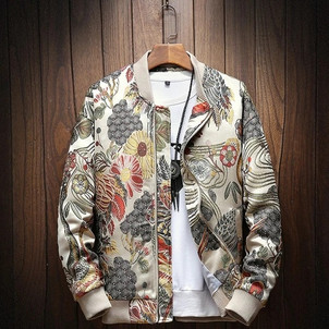 TN1! - Japanese Embroidery Bomber Jacket