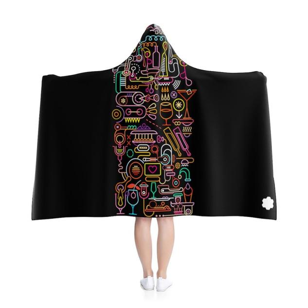 Joy - Hooded Blanket (Black)