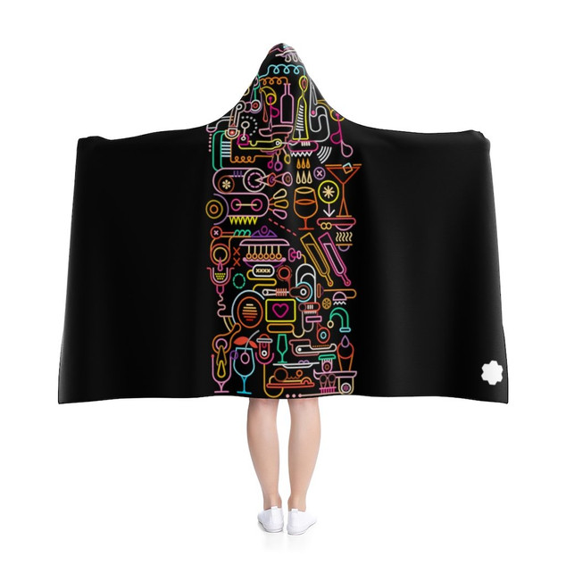 Joy - Hooded Blanket (Black)