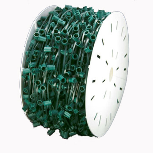 """1000 ft spool C9 green wire, 12"""" spacing"""
