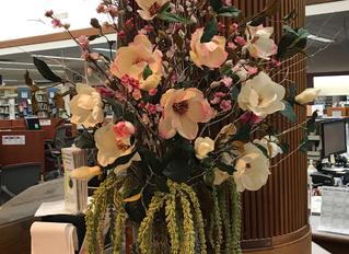 Spring 2018 display at Berlin Peck Memorial Library