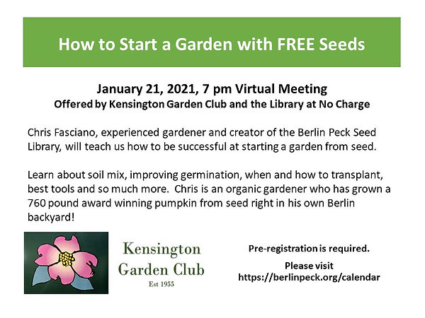 Starting a Garden with Free Seed Flyer.J