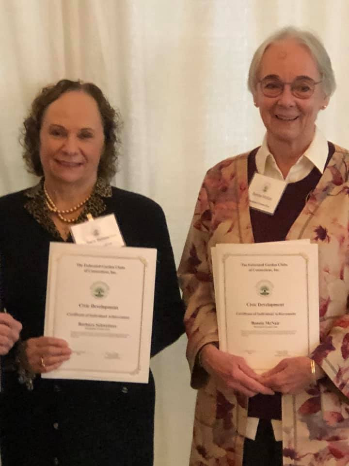 Congratulations to club members Barbara Gregory Schweitzer (left), Bonnie McNair (right)