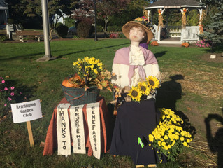 Berlin Scarecrow Contest- A tribute to Marjorie Moore
