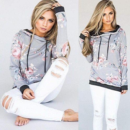Floral hoodie