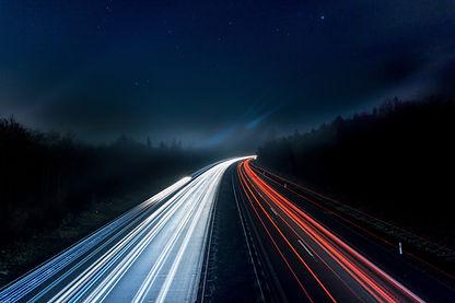 Verkehr Langzeitbelichtung