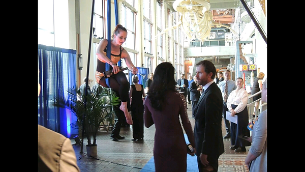 Aerialist bartender corporate event