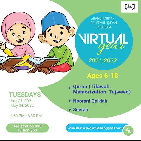 ADAMS Fairfax Taleemul Quran Program (Tu