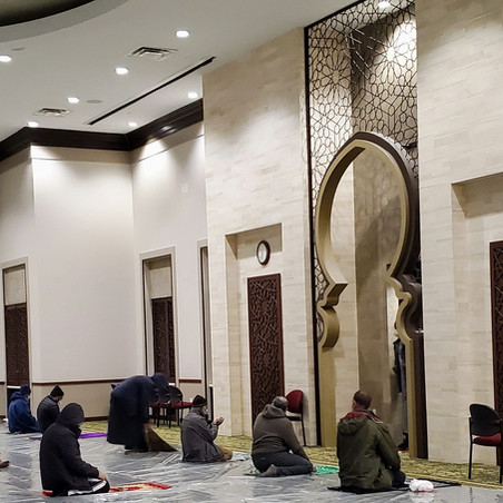 All 5 Daily Prayers are held at ADAMS Sterling