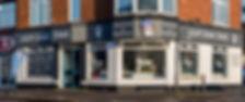 Front of a dog shop, shop window