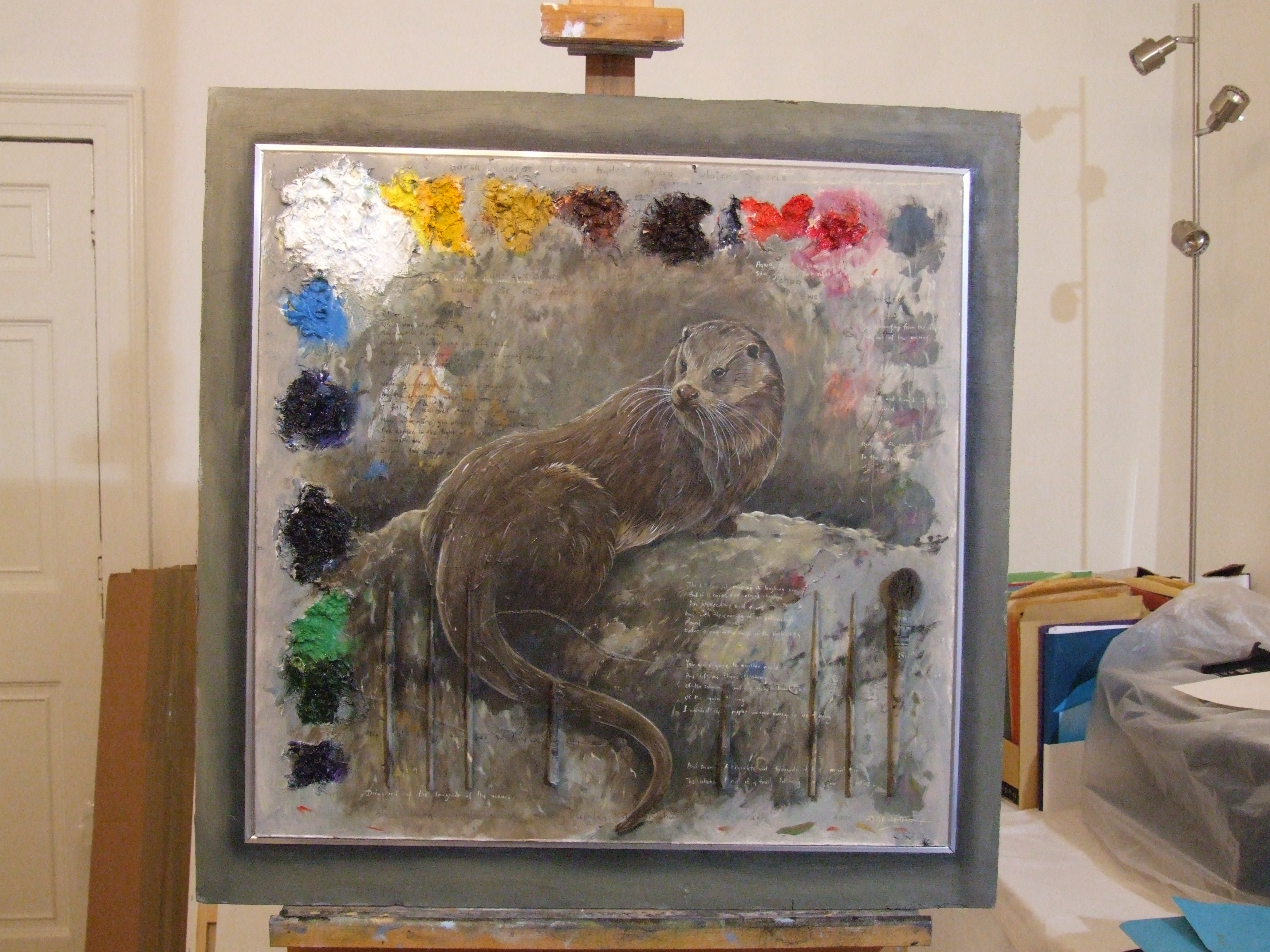 Otter Palette 90 x 110cm £1600 Sold