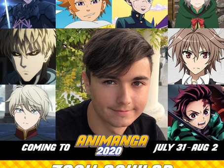 Voice Actor Zach Aguilar to be a Special Guest at Animanga 2020