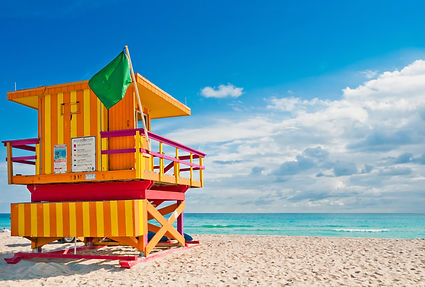 Colorful Lifeguard Tower in South Beach,