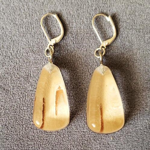 Birchbark Resin Drop Earring