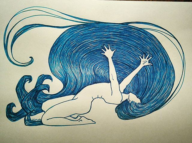 Release the Prayers #ink #inkdrawing #penandink #penart #dippenart #dippen #nativewoman #nativeartis
