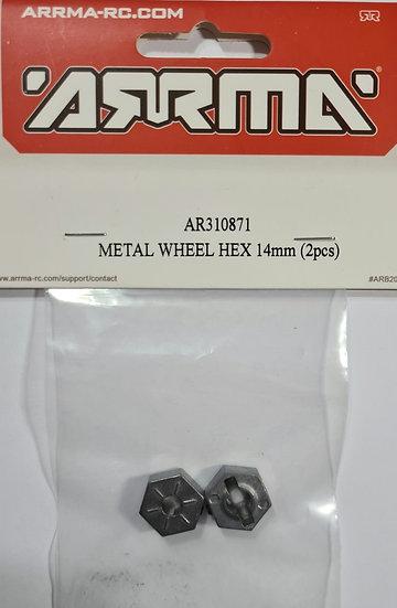 Arrma ARA310871, Metal wheel HEX 14mm (2 pcs)