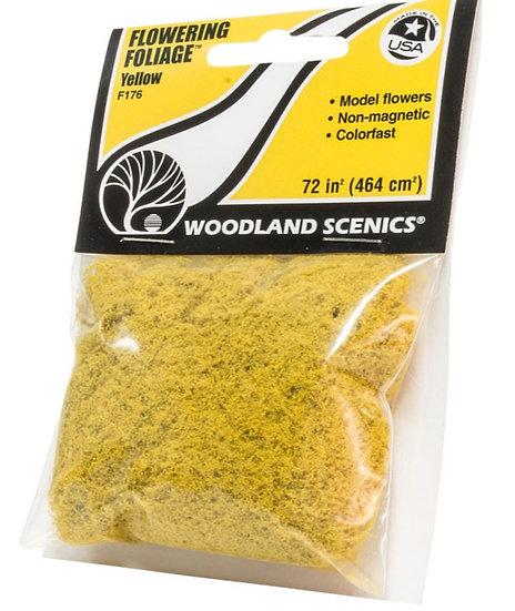 Woodland Scenics F176, Follaje florido color amarillo