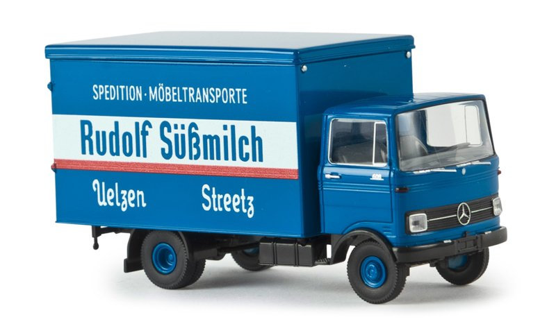 Brekina 48539, Mercedes LP 608 Koffer, Rudolf Süßmilch