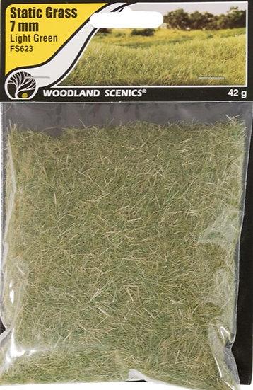 Woodland Scenics FS623, Pasto estático 7 mm, verde claro