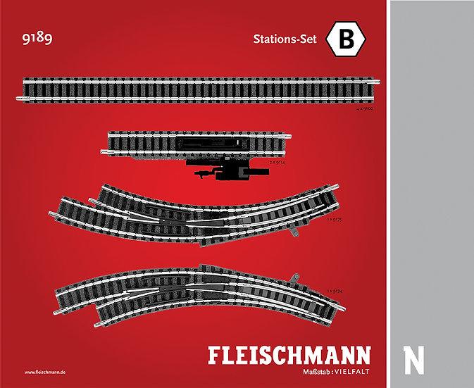 """Fleischmann 9189, Set vías Profi """"B"""""""