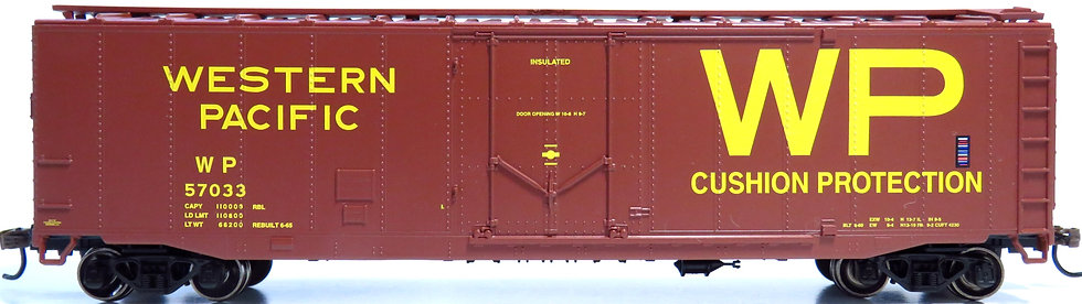 Athearn RND79117, 50' Plug Door Smooth Side Box, WP #57033