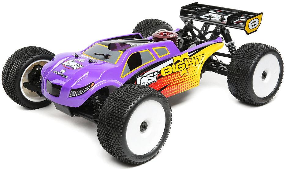 LOSI LOS04011, 1/8 8IGHT-T 4WD Truggy Nitro RTR, púrpura amarillo
