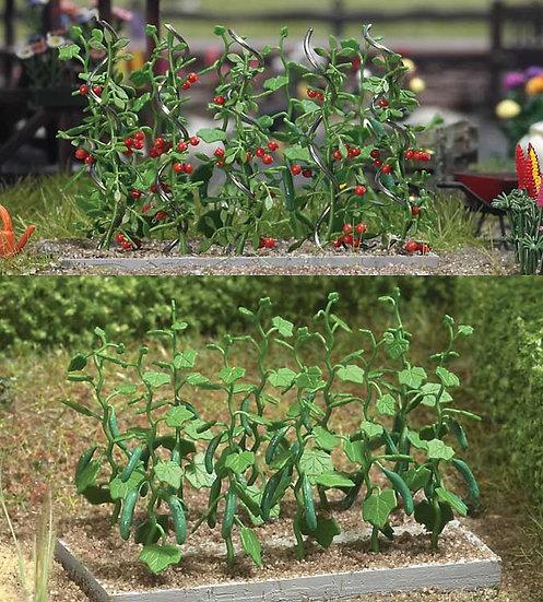 Scene Master 1116, Pack de plantas de pepino y tomates (HO)