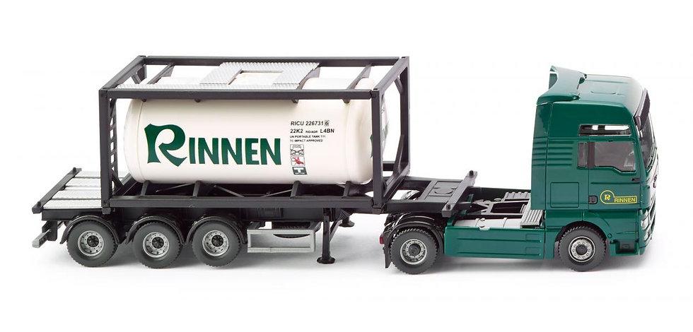 "WIKING 53601, camión porta container MAN TGX ""Rinnen"""