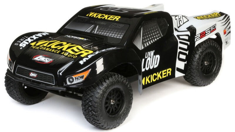 LOSI 03022T2, 1/10 22S 2WD SCT Brushed RTR, Kicker, negro