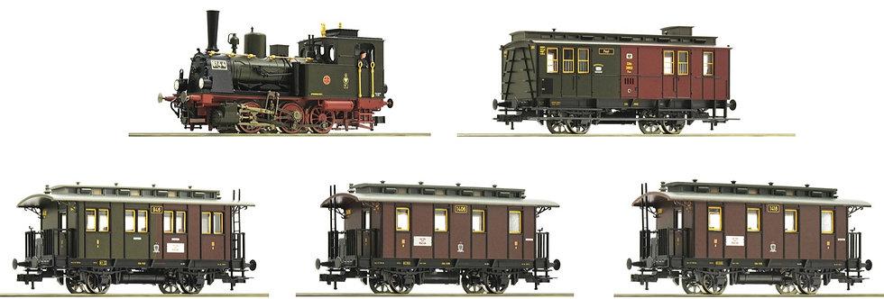 ROCO 61476. Set locomotora a vapor T3 + 4 coches KPEV