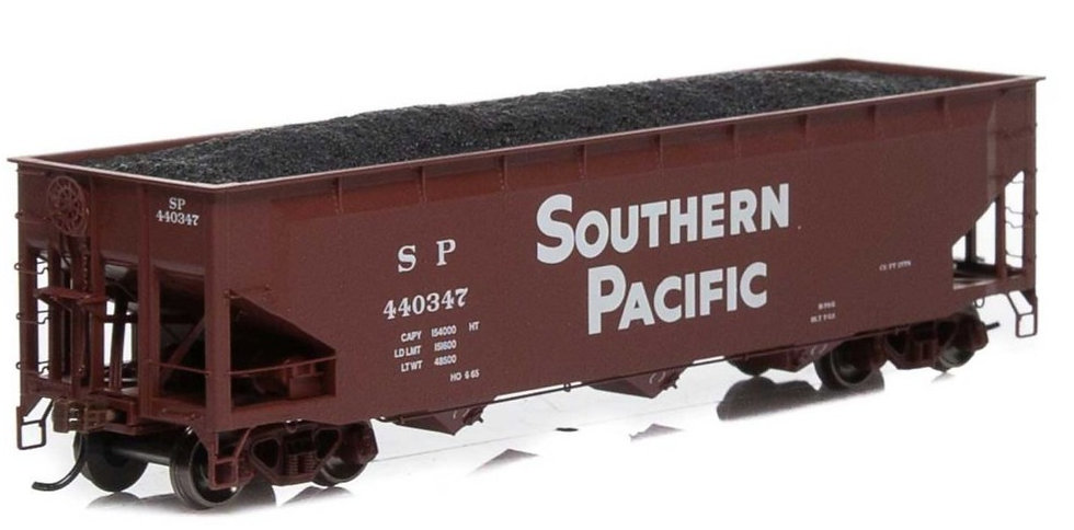 Athearn 7043, HO 40' 3-Bay Offset Hopper con carga SP #440347