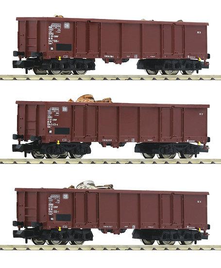 Fleischmann  828345. Set de 3 carros con carga, DB, época IV
