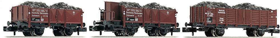 FLEISCHMANN 820802. Set de carros transporta carbón, DR