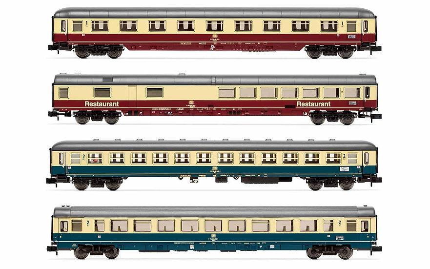 Arnold HN4265, Set de 4 coches alemanes IC, DB, época IV