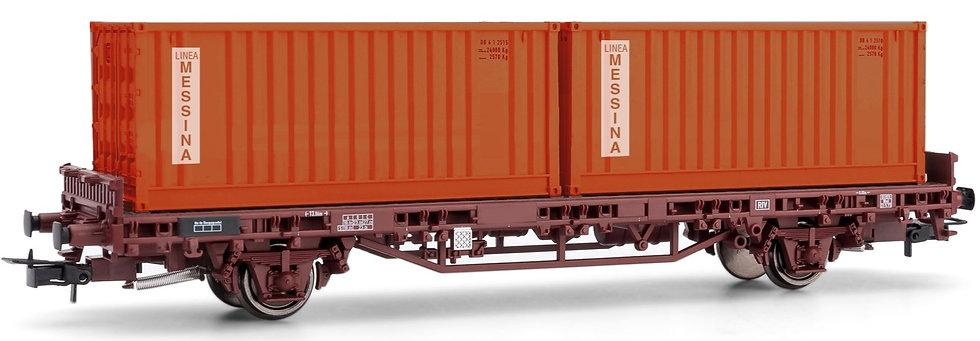 """Rivarossi HR6463, Vagón porta container FS """"MESSINA"""""""""""